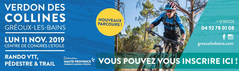 Verdon des collines edition 2018Inscription Groupe (à partir de 10 pers.)